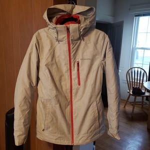 Columbia 3 in 1 waterproof ski jacket omni-heat